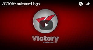 3D logo of victory entertainment - www.victorymedia.gr